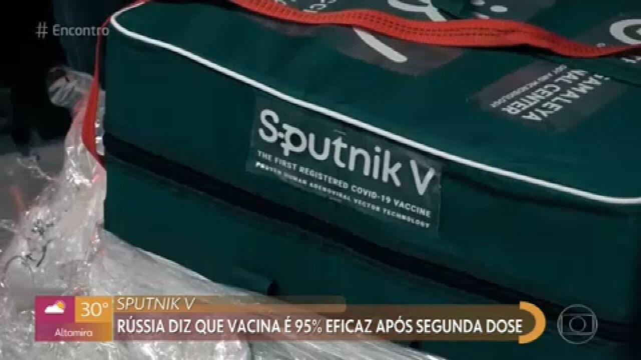 Rússia diz que Sputnik V é 95% eficaz após segunda dose