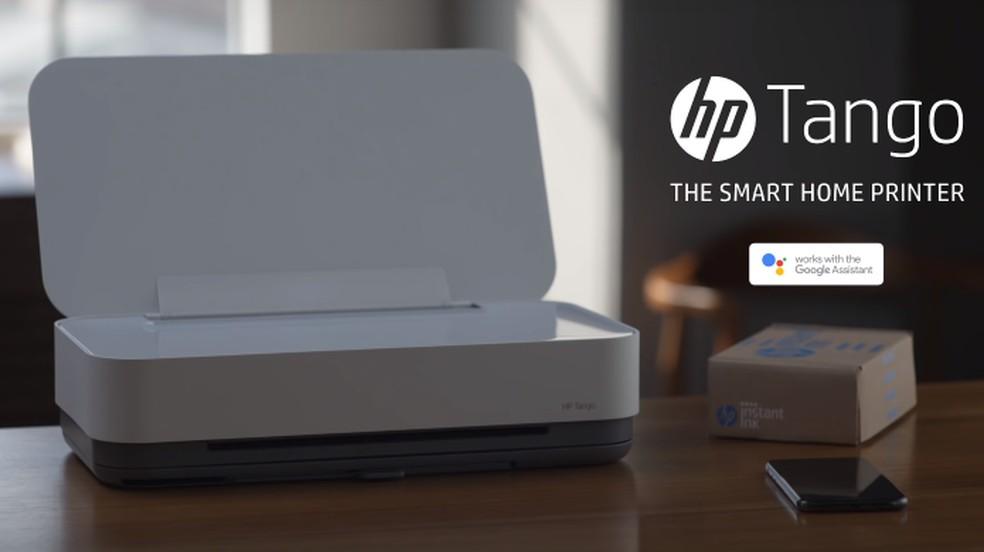 Impressora HP Tango funciona com comandos de voz do celular — Foto: Divulgação/HP
