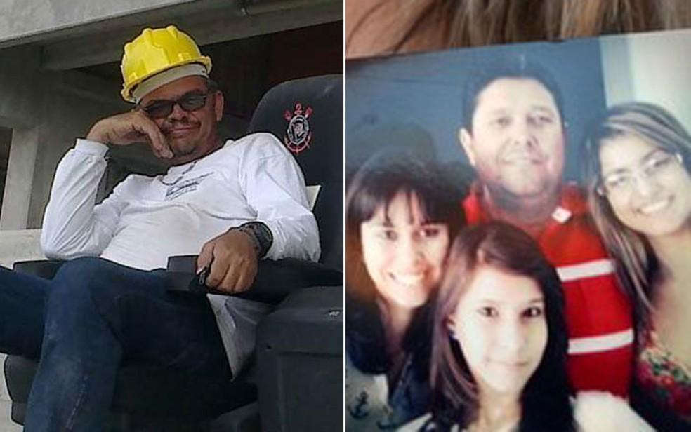O montador de cadeiras Ronaldo Oliveira dos Santos e o motorista e operador de caminhão-guindaste Fábio Luiz Pereira morreram atingidos pela torre do guindaste (Foto: Arquivo pessoal)