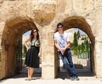 Paula Braun e Mateus Solano em Israel | Divulgação
