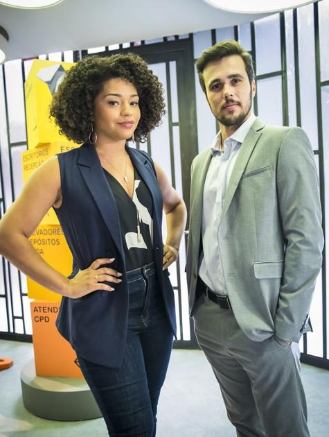 Juliana Alves e Bruno Ferrari em 'Salve-se quem puder' (Foto: João Miguel Júnior/TV Globo)