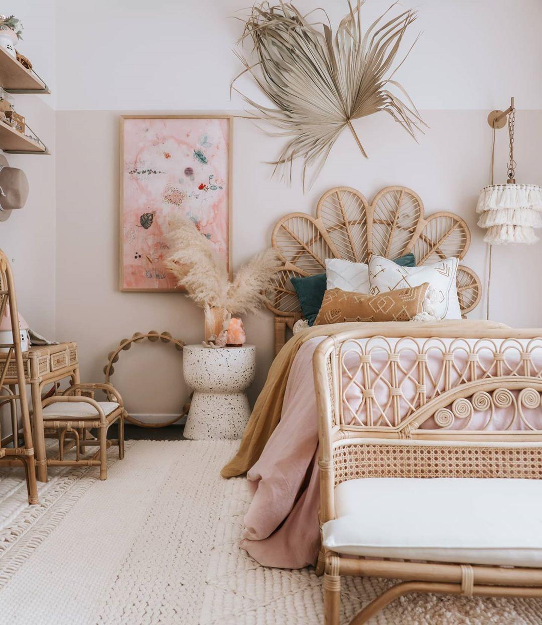 Décor do dia: quarto infantil com cama de fibras naturais (Foto: Reprodução/Instagram)