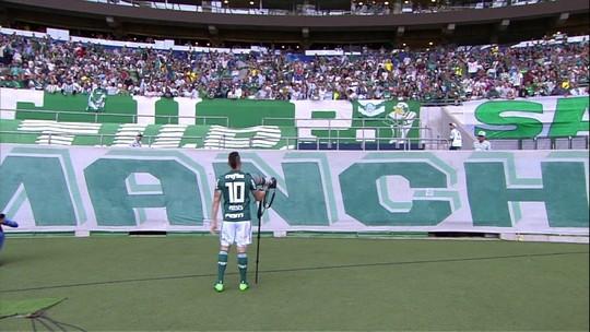 Moisés brinca sobre comemoração fail com torcida do Palmeiras e promete repeti-la