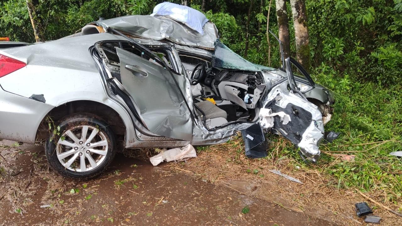 Mulher morre após acidente na ERS-155, em Santo Augusto