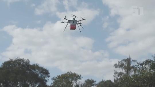 Negociações buscam colocar Campinas como a 1ª do país a ter entregas de refeições por drone