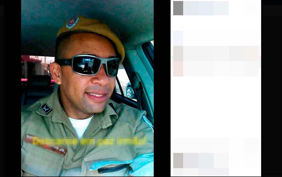 Familiares e amigos do PM postaram fotos em redes sociais lamentando a morte dele em Feira de Santana (Foto: Reprodução/Facebook)