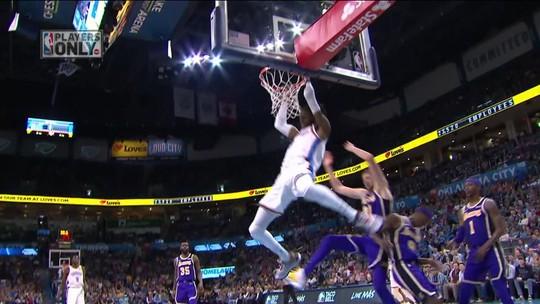 Destaque da semana: Westbrook na cola de Magic Johnson para ser o segundo em triplos-duplos