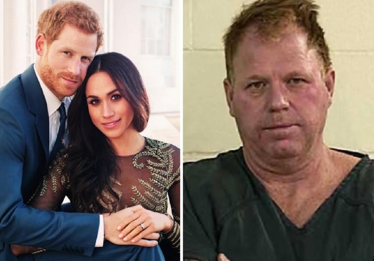 Meghan Markle e o Príncipe Harry e a foto do irmão dela quando foi preso (Foto: Instagram/Divulgação)