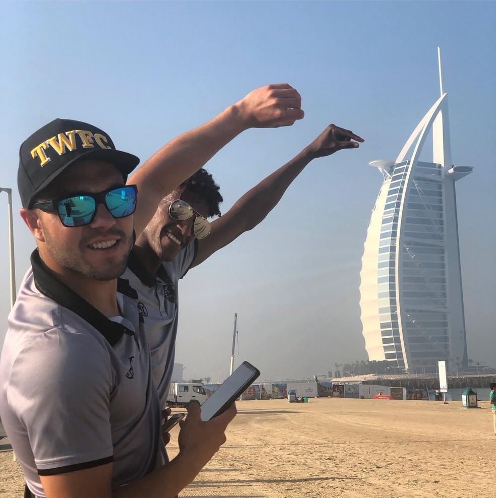 Team Wellington em Abu Dhabi — Foto: Reprodução / Instagram