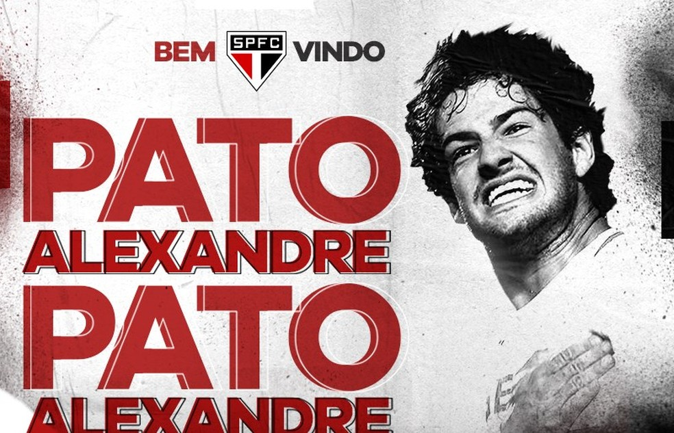 São Paulo anuncia contratação de Alexandre Pato — Foto: Reprodução