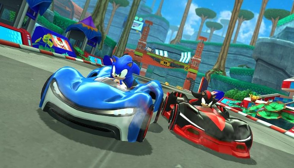 Sonic Racing é um dos melhores jogos multiplayer disponíveis no Apple Arcade — Foto: Divulgação/SEGA
