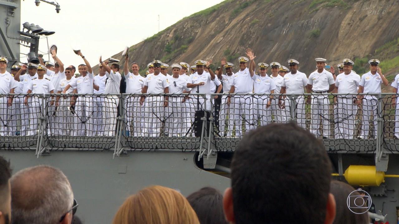Caldeirão 20 anos: Marinheiros voltam para a casa após nove meses em missão especial
