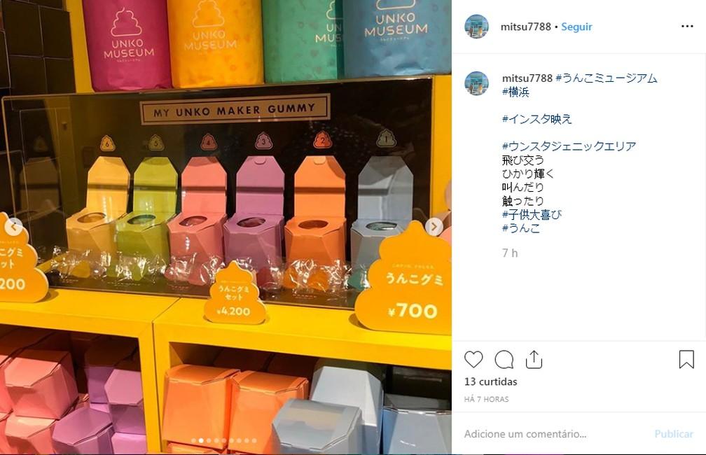 A loja do museu em Yokohama, no Japão. — Foto: Reprodução/Instagram