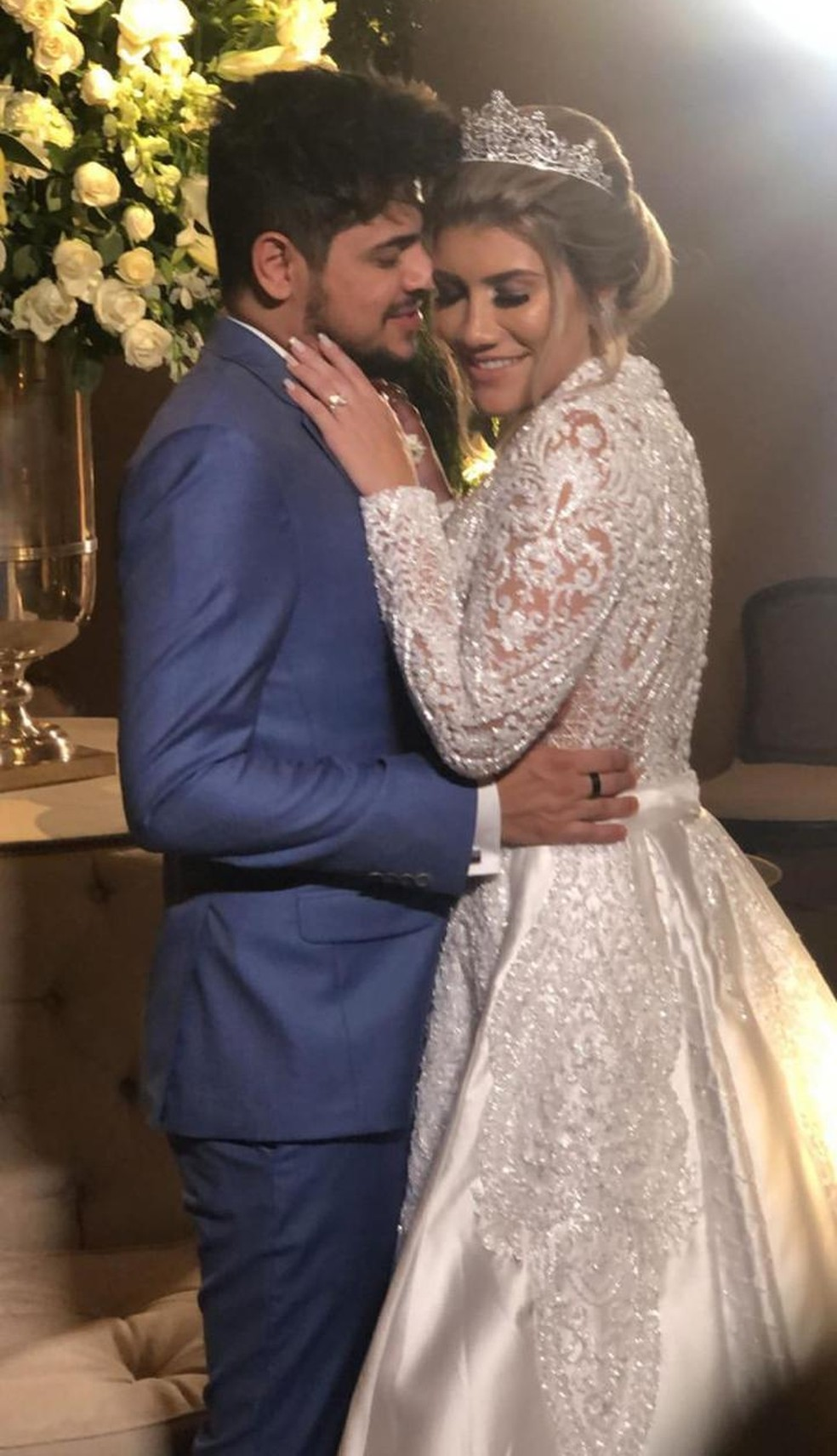 Cristiano e Paula se casaram em São José do Rio Preto — Foto: Divulgação