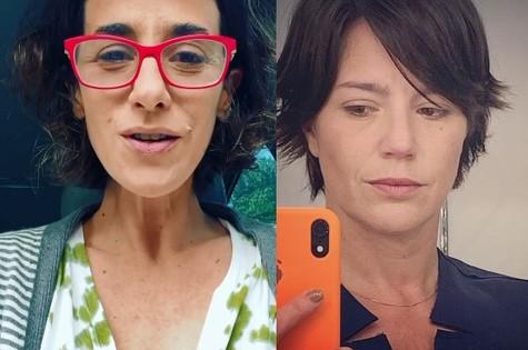 Mariana Lima interpretará uma ex-modelo que se apaixona por uma mulher (Natalia Lage) em 'Um lugar ao sol' (Foto: Reprodução)