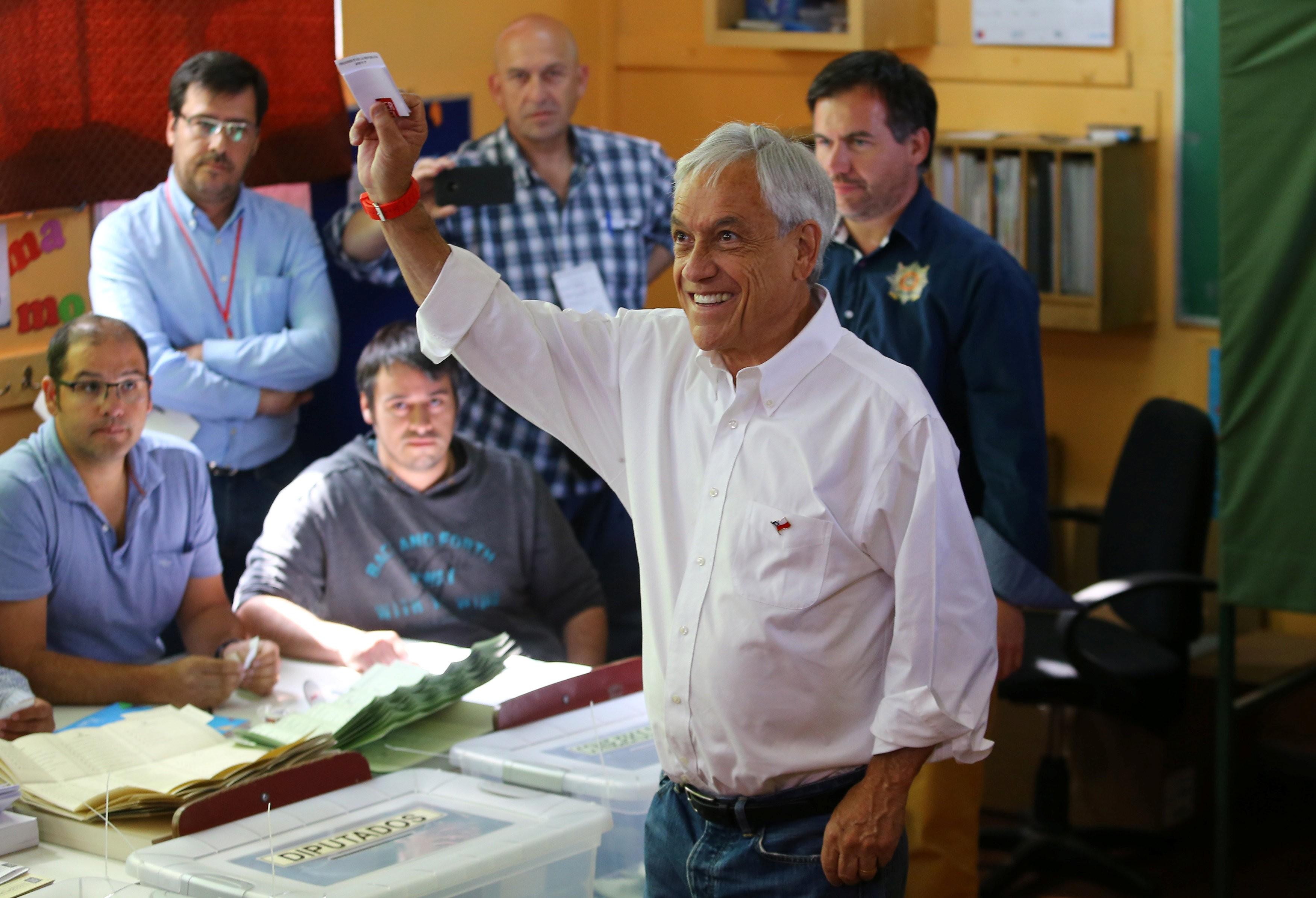 Primeiros resultados no Chile apontam Piñera com 36% e Guillier com 23%