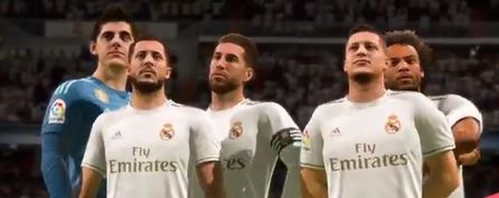 Reforços do Real Madrid já aparecem no FIFA 20 — Foto: Reprodução
