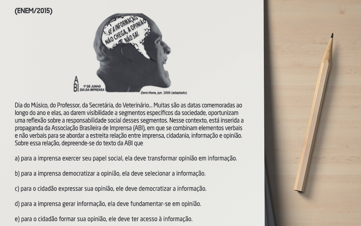 Enem: prova de Linguagens exige conhecimento aprofundado de textos mistos e inferências