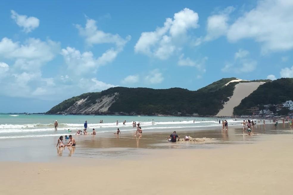 Praia de Ponta, em Natal, está própria para banho — Foto: Fernanda Zauli/G1