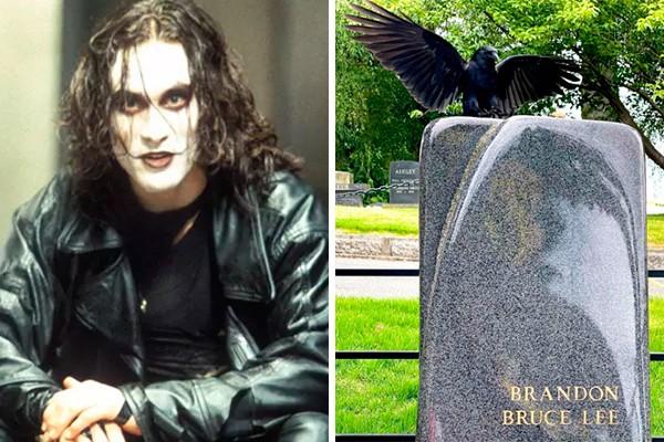 Foto de corvo na lápide de Brandon Lee viraliza nas redes