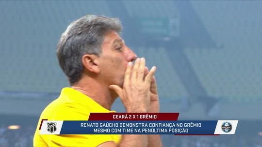 Após derrota para o Ceará, Renato Gaúcho diz que o Grêmio vai decolar e comentaristas analisam a confiança do treinador