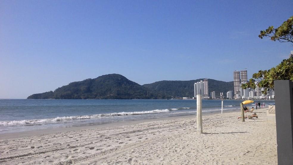 Praia Central, em Balneário Camboriú — Foto: Joana Caldas/G1