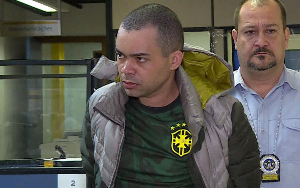 Waldenberg Eugênio de Souza, preso após confessar ter matado o enteado de 13 anos — Foto: Reprodução/TV Globo