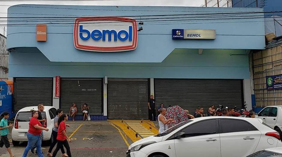 A loja Bemol doou todo seu estoque para vítimas de incêndio  (Foto: Reprodução/Facebook/Fred Lobão)