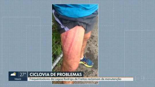 Frequentadores da Lagoa Rodrigo de Freitas reclamam de falta de manutenção