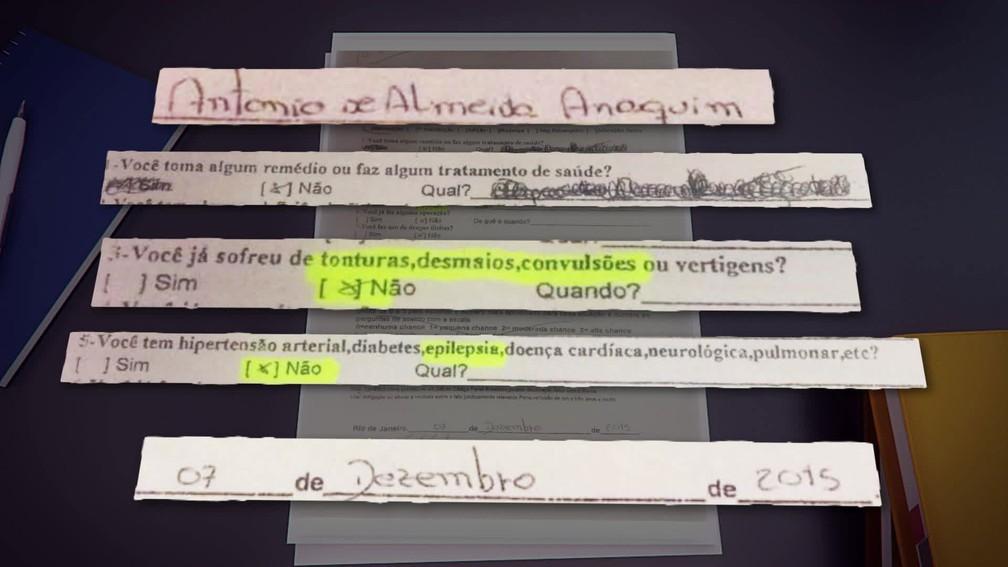 Em questionário do Detran, motorista que atropelou 17 pessoas em Copacabana negou ter epilepsia, ao contrário do que afirmou à polícia em depoimento após o acidente. (Foto: Reprodução/TV Globo)