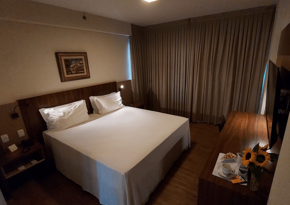 Leito de Hotel Gran Executive em Uberlândia — Foto: Gran Executive/ Divulgação