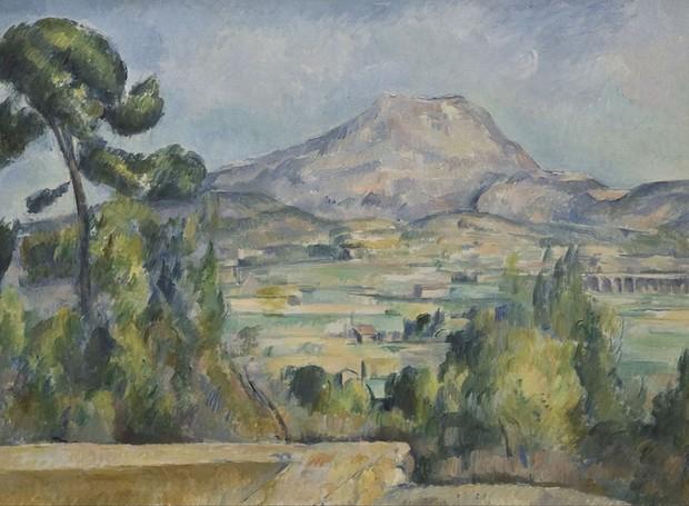 """""""Mount Saint Victoire"""" foi uma obra feita em 1980  (Foto: Google Arts & Culture/ Reprodução)"""