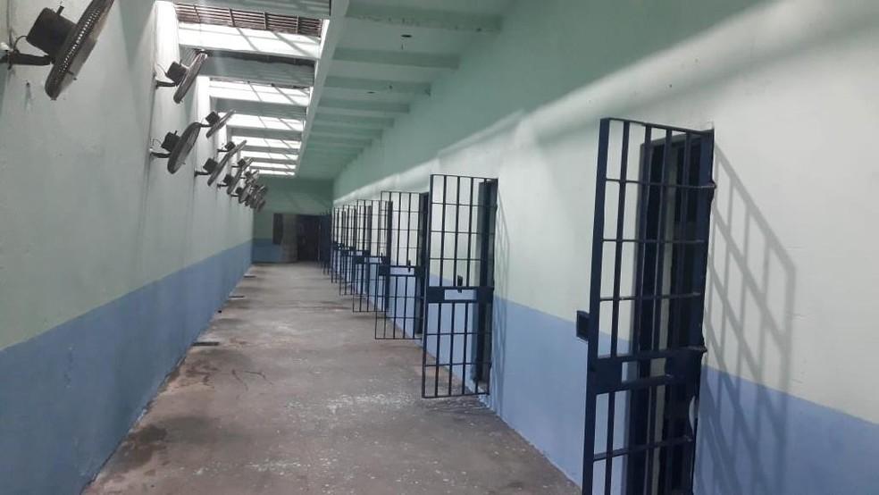 A Penitenciária Central do Estado (PCE) teve o maior número de presos infectados com a Covid-19 — Foto: Sispen/MT