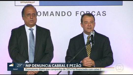 MP denuncia Cabral e Pezão por uso de caixa 2 em campanha eleitoral de 2014