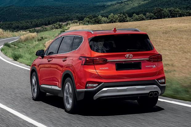 Hyundai Santa Fe 2019 - Por enquanto, não foi apresentada a versão estendida equivalente ao Grand Santa Fe, que tem mais espaço para a terceira fileira (Foto:  divulgação)