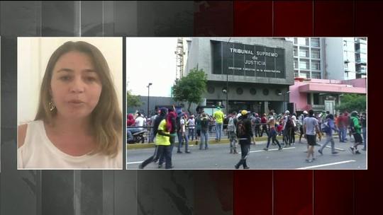 Protestos tomam ruas de Caracas após candidatura de Henrique Capriles a presidente ser rejeitada