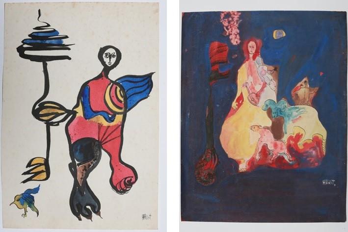 Os desenhos inéditos de Hilda Hilst