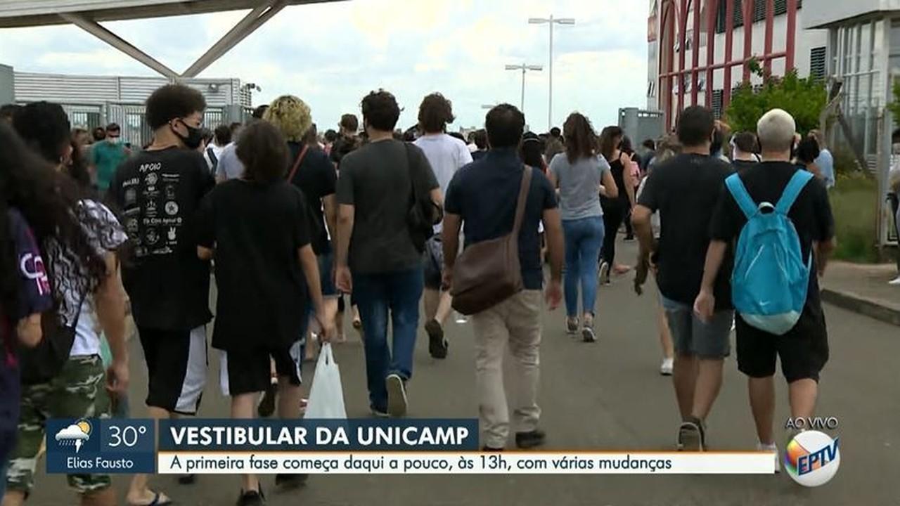 Vestibular da Unicamp: veja movimentação instantes antes do início da primeira fase