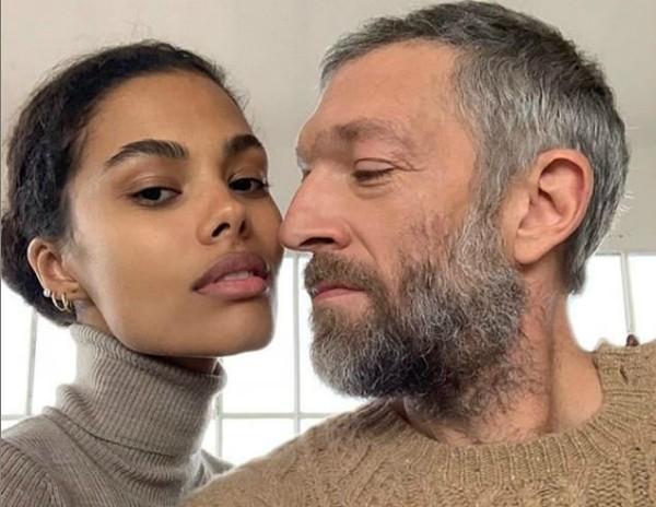 Vincent Cassel e Tina Kunakey (Foto: Reprodução Instagram)
