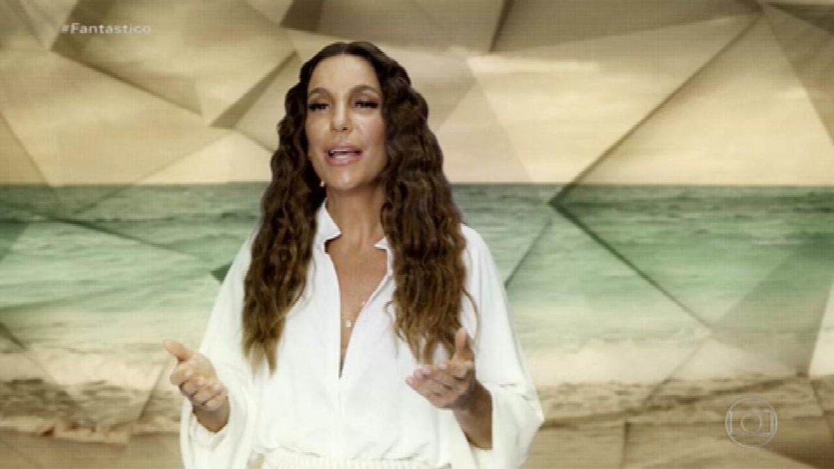 Homenagem às mães: trio 'As Baías' e Ivete Sangalo cantam 'Mãe' no palco do Fantástico