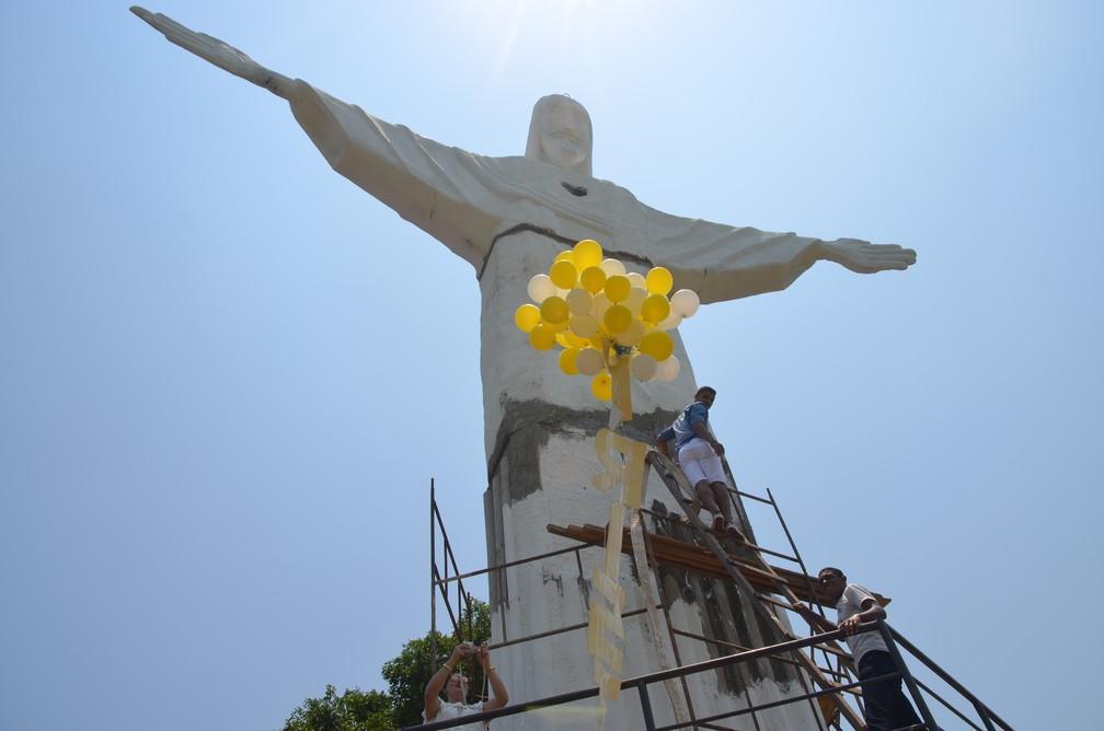 Estátua foi inaugurada em no último fim de semana em Cacoal (Foto: Magda Oliveira/G1)