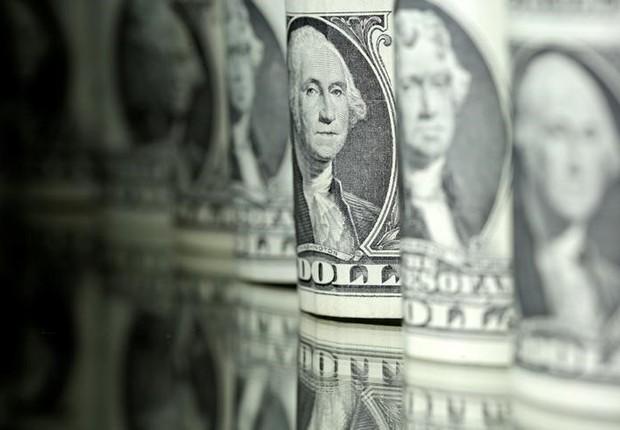 dólar - moeda americana - câmbio  (Foto: Dado Ruvic/Illustration/Reuters)