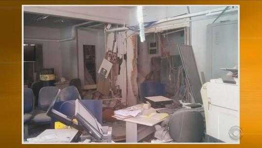 Criminosos explodem agência bancária no Oeste de SC