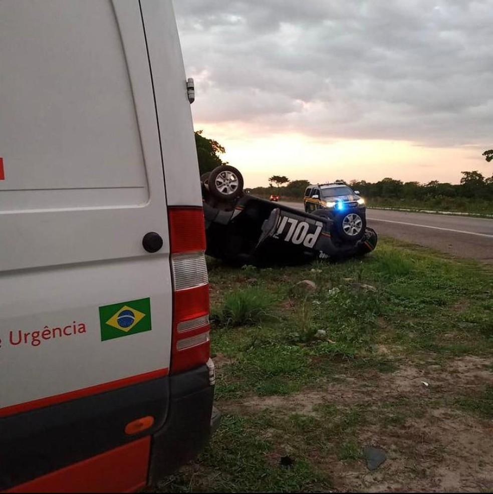 Um inspetor da Polícia Civil foi socorrido por uma ambulância do Samu e encaminhado para o IJF, em Fortaleza. — Foto: Arquivo pessoal