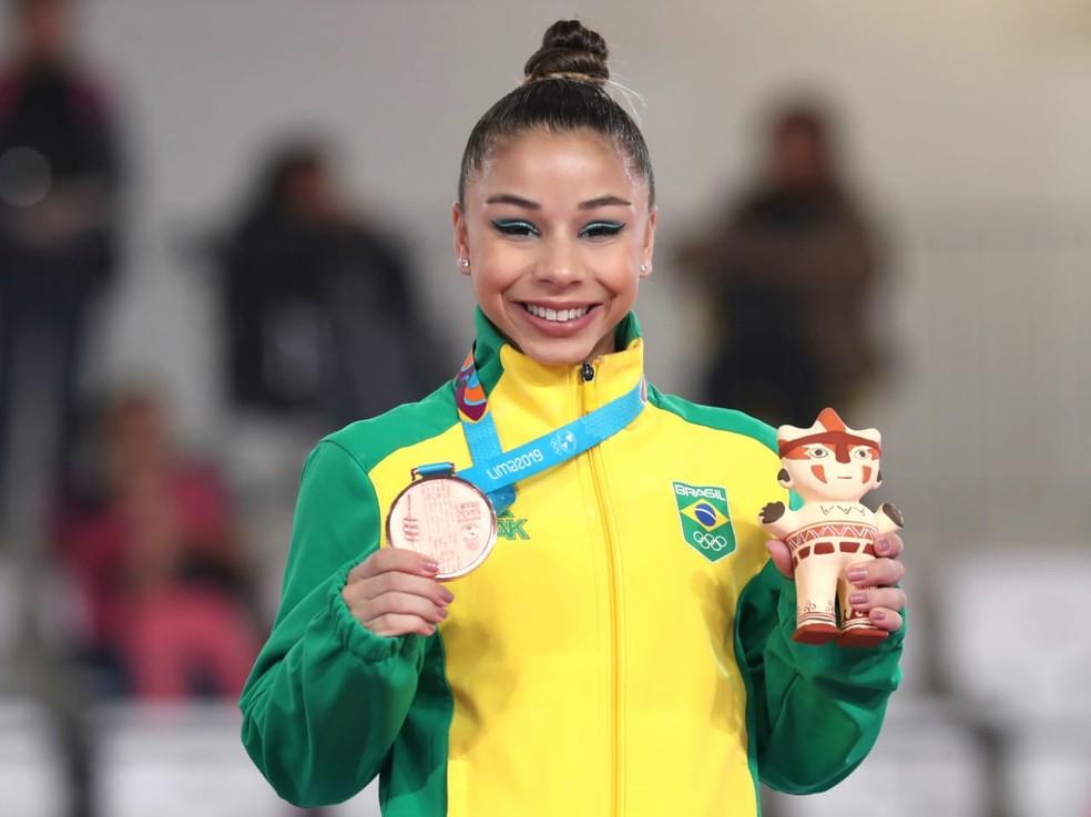 Flávia Saraiva é bronze no solo do Pan — Foto: Ricardo Bufolin / Panamerica Press / CBG