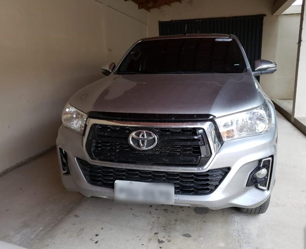 Veículo apreendido pela Polícia Federal em Cedro — Foto: Divulgação/ Polícia Federal