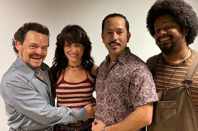 Matheus Nachtergaele, Bianca Bin, Edmilson Filho e Haroldo Guimarães (Foto: Arquivo pessoal)