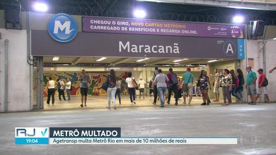 MetrôRio é multado em mais de R$ 10 milhões por falta de investimentos previstos