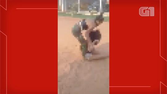 Mulher é presa em MS por torturar rival obrigando a 'comer areia e pedir perdão'; veja vídeo