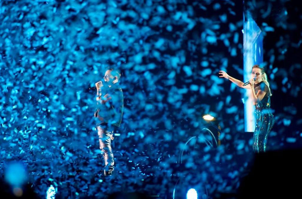 Em clima de despedida, Sandy e Junior encerram turnê com show para 100 mil pessoas no Rio — Foto: Marcos Serra Lima/G1